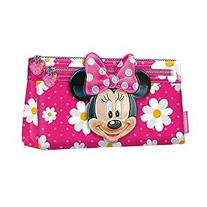 Minnie Mouse Estuche portatodo Plano, Color Rosa, 22 cm (Karactermanía 30662)