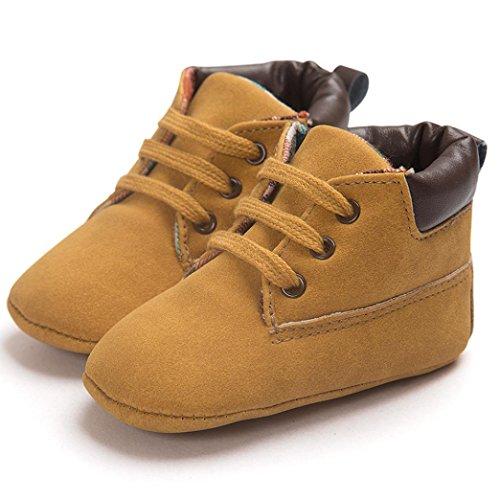 Xmansky Unisex-Baby weiche warme Sohle Schuhe Infant Jungen Mädchen Kleinkind Schuhe (6-12 Monat, Schwarz) Khaki