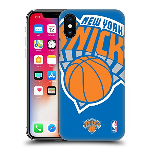 Ufficiale NBA Semplice New York Knicks Cover Retro Rigida per Apple iPhone 7 Plus / 8 Plus Icona Oversize
