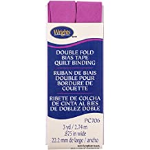 """Double Fold Quilt Binding 7/8""""X3yd-Radiant Orchid"""
