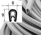 KS1-2S/W/G/SG/R Kantenschutz von SMI - Kantenschutzprofi aus PVC Gummi - Klemmprofil mit Stahleinlage - einfache Montage, selbstklemmend ohne Kleber - Klemmbereich 1-2mm (5 m, silbergrau)