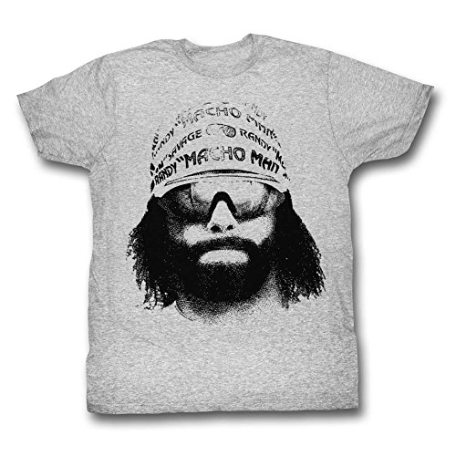 2Bhip Macho Man WWF Randy Savage Bandana Sunglasses Face Graphic Adult T-Shirt