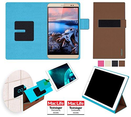 reboon Hülle für Huawei MediaPad X2 Tasche Cover Case Bumper | in Braun | Testsieger