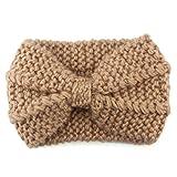 BZLine® Damen Stirnband Winter Kopfband Haarband Winter wärmer Haarband (Braun)