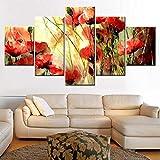 ruciruci Bilder 5 Teilig Malerei Dekoration Kunst Hd Drucke Leinwand Bild Pcs Schöne Blumen Moderne Wand Günstige Poster Rahmenlos Weihnachten