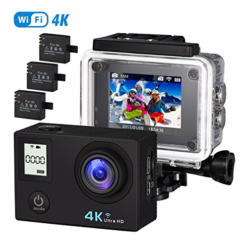 VTIN Action Kamera 4K Camera WIFI sports cam 170°Ultra-Weitwinkel 2