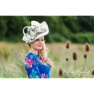 Hut Royal Ascot hat Ballhut Kentucky- Derby hat Pferderennen couture Millinery Sinamay hat Hochzeit Fascinator U50