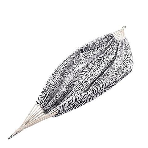 XXL Outdoor Hängematte Zebra | Hängematte schwarz / weiß gemustert