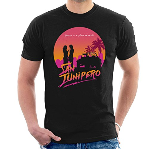Cloud City 7 Black Mirror San Junipero Heaven Men's T-Shirt