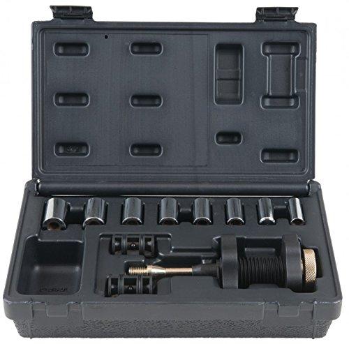 KS Tools 150.2290 Kupplungs-Zentrier-Werkzeug-Satz Ø 15,0 - 28,0 mm mit Zentrierhülsen, 11-tlg.