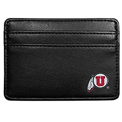 NCAA Utah Utes Leather Weekend Wallet, Black