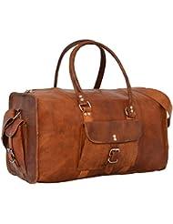 "Gusti Cuir nature ""Henry"" sac de voyage bagage à main bagage cabine sac en cuir véritable sac de voyage sac en cuir besace cabas en cuir femme homme marron R4"