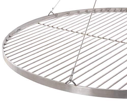 55 cm Grillrost Edelstahl für Schwenkgrill 3 Bein BBQ Grill Rost mit Seil neu