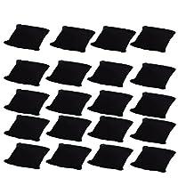 Bujingyun Velvet Small Bracelet/Watch Pillow Jewelry Displays-20PCS (Black)