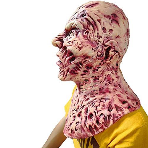 (Halloween-Symbol, Totenkopf, Maske aus Latex, kompletter Kopf, Zombie-Masken, Kostüm, Party-Dekoration)