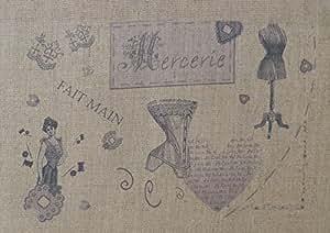 La Boîte à Broder COU009MN Coupon Imprimé Mercerie Métis Naturel