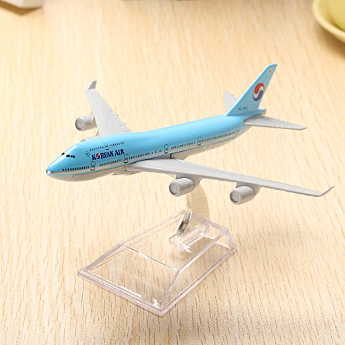 Generic WH B747 Korean Air Aircraft Model 16cm Airline Airplane Aeroplan Diecast Model Collection Decor