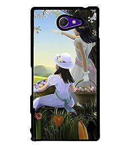 PrintVisa Designer Back Case Cover for Sony Xperia M2 Dual :: Sony Xperia M2 Dual D2302 (Nature Flowers rose jasmine sunflower)