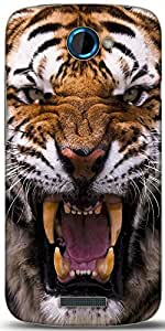 Snoogg Angey Tiger Designer Protective Back Case Cover For HTC One S