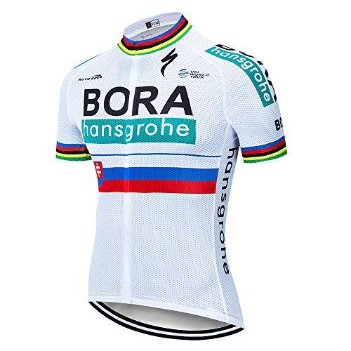 SUHINFE Herren Radtrikot Shirt Kurzarm Atmungsaktiv Pro Team MTB Radfahren Top Radshirt, Bora-WT1, M