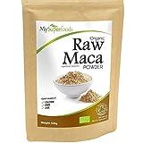 Polvo Orgánico De Maca (500g) / MySuperFoods / Repleto de nutrientes saludables / Antiguo alimento para la salud de Perú / Delicioso sabor a maltosa / certificado como producto orgánico