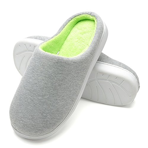 FLY HAWK Hausschuhe Herren Pantoffeln aus Korallenvlies und Memory-Baumwolle Drinnen Pantoffeln für Herbst und Winter(HL526)