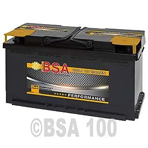 BSA Autobatterie 12V 100Ah Starterbatterie ersetzt 88Ah 90Ah 92Ah 95Ah (890A Startkraft)