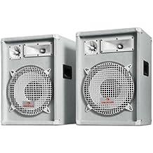 Auna PW-1222 Sonido Profesional DJ Pareja de Altavoces 3 vías 1200W blancos