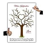 Konfirmation Fingerabdruckbaum 008-2, Leinwand 30x40cm, Erinnerung, Geschenk, Familienfeier, Wedding Tree