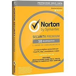 Norton Security Deluxe Antivirus Software 2018   10 Dispositivi (Licenza di 1 anno)   Compatibile con Mac, Windows, iOS e Android