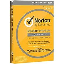 Norton Security Deluxe Antivirus Software 2019 | 10 Dispositivi (Licenza di 1 anno) | Compatibile con Mac, Windows, iOS e Android