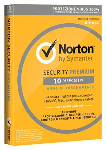 Norton Security Premium 2018 - 10 dispositivi, 1 anno