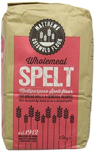 Fwp Matthews Wholemeal Spelt Flour 1 5 Kg Pack Of 5