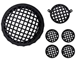 #9: AllExtreme Matte Finish Grill Set for Headlight, Tail Light and Indicator for Royal Enfield Bullet Classic 350 and 500(Set of 6 pcs) Black
