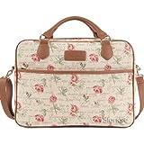 Signare Tapestry Women Laptop Computer Bag/Pink Roses (CPU-RSPK)