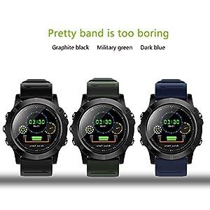 BZLine Smartwatch Fitness Armband, Wasserdicht IP68 Smart Watch Uhr mit Pulsmesser Fitness Tracker Sport Uhr Fitness Uhr mit Schrittzähler,Schlaf-Monitor für Android und iOS