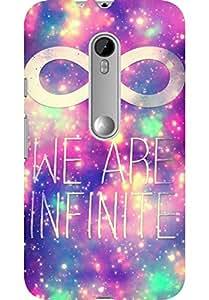 AMEZ designer printed 3d premium high quality back case cover for Moto G3 (infinite)
