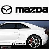 2 y Mazda 40 cm Schweller Aufkleber,Sticker von myrockshirt ®, Autoaufkleber,Auto,Lack,Scheibe, Tuning , Racing aus Hochleistungsfolie ohne Hintergrund Profi-Qualität viele Farben zur Auswahl MADE IN GERMANY