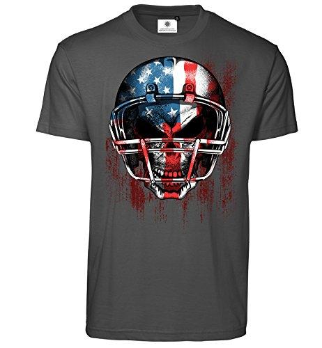 Bedrucktes Herren T-Shirt American Football (L, Koks) ()