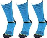 Comodo - 3 Pares de TRE8 Calcetines de Trekking | 50% Lana Merina | 39-42 | TRE8-04 - Blue