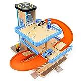 MaanZys Bauen Sie die vorbildliche eingestellte Kombination des Schienenautospielzeugautoparkplatz-Kinderautos zusammen -