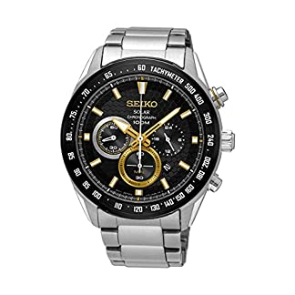 Seiko Analog Black Dial Men's Watch-SSC581P1
