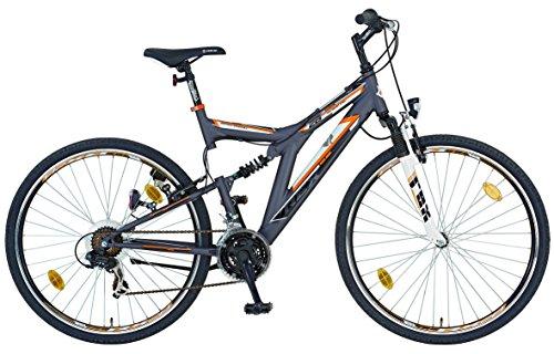 REXBike Jungen Mountainbike REX Alu-ATB Fully 26 Zoll Bergsteiger 6.1, anthrazit, 48, 51036-3111