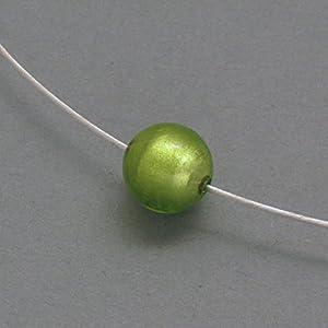 Kette mit Muranoglas-Kugel, hellgrün