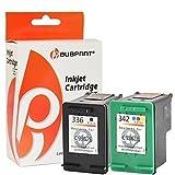 Bubprint 2 Druckerpatronen kompatibel für HP 336 342 HP336 HP342 für Deskjet 5440 Officejet 6300 6310 6315 Photosmart 2575 7850 C3100 C3180 PSC 1500