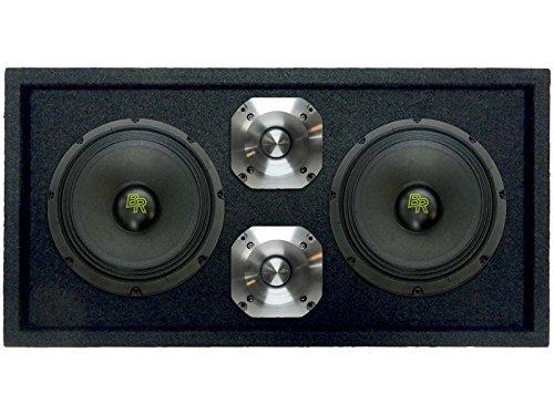 Bass Rockers BRCH10 Loaded 25,4 cm Lautsprecherbox mit 2 x 10 375 W Bass-Rockers Voice-Lautsprecher und 2 x 300 W Chrom-Hochtöner für Auto, Zuhause, DJ, Kirche und Outdoor-Veranstaltungen