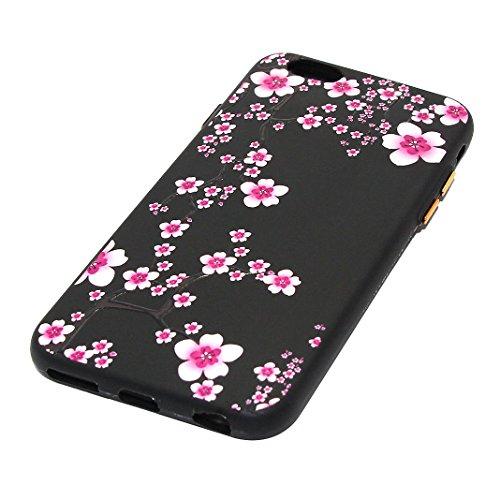 House iPhone 6 Plus Doux TPU, Etui iPhone 6 Plus Case, iPhone 6S Plus Arrière Coque, Moon mood® Ultra Mince Portable Couverture pour Apple iPhone 6S Plus 5.5 pouces Case Cover Coque de Protection Slim Style-8