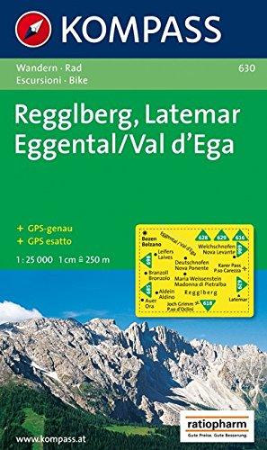 Carta escursionistica n. 630. Gruppo Latemar, Val d'Ega 1:25.000. Adatto a GPS. Digital map. DVD-ROM