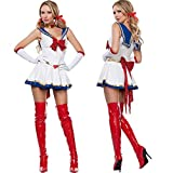 WEII Costume Sexy Cosplay Sailor Moon Costume Sexy Bow Princess Dress Uniforme da Gioco,Immagine,Taglia Unica