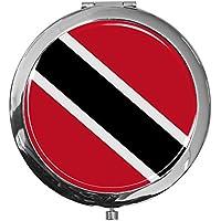 """metALUm - Extragroße Pillendose in runder Form""""Flagge Trinidad und Tobago"""" preisvergleich bei billige-tabletten.eu"""